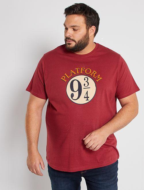 T-shirt Harry Potter                             bordeaux