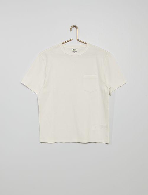 T-shirt in cotone eco-sostenibile                                                                                                                             BIANCO