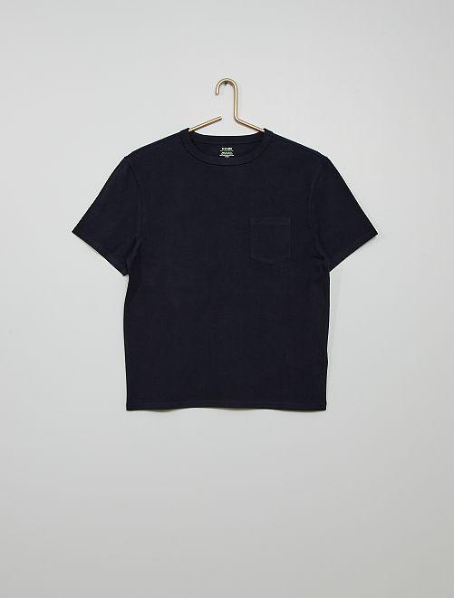 T-shirt in cotone eco-sostenibile                                                                                                                             blu