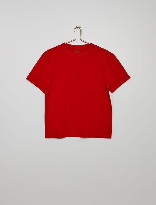 T-shirt in cotone eco-sostenibile                                                                                                                             rosso pompiere
