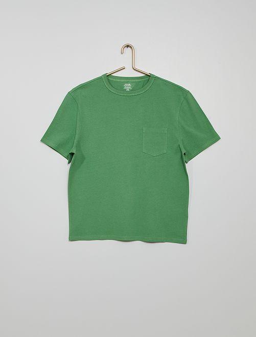 T-shirt in cotone eco-sostenibile                                                                                                                             VERDE