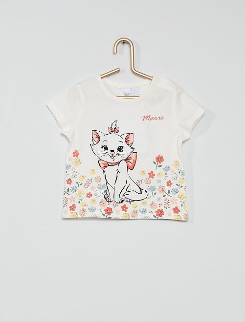 T-shirt in cotone 'Gli Aristogatti'                             ecru