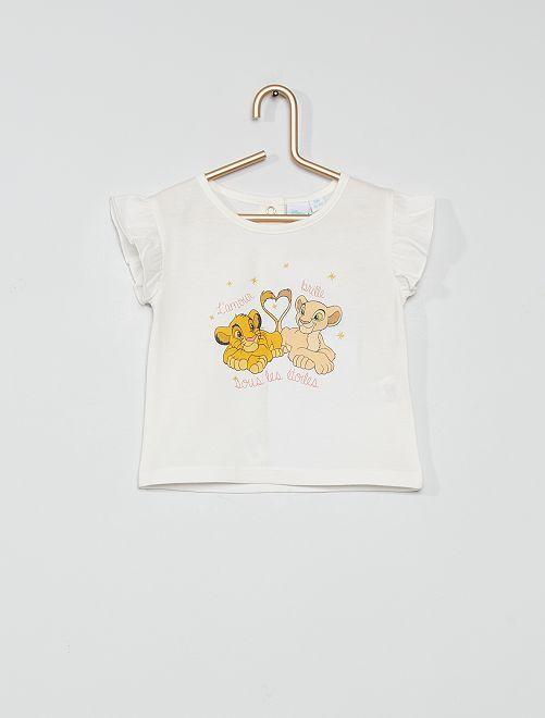 T-shirt in cotone 'Il Re Leone'                             ecru