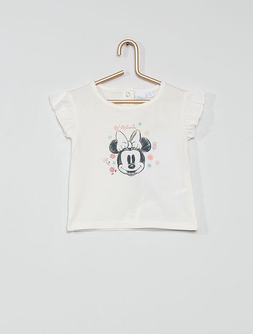 T-shirt in cotone 'Minnie'                             ecru