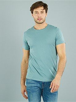 T-shirt in cotone tinta unita