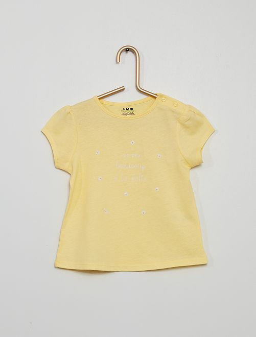 T-shirt in maglia jersey                                                                                                                             GIALLO