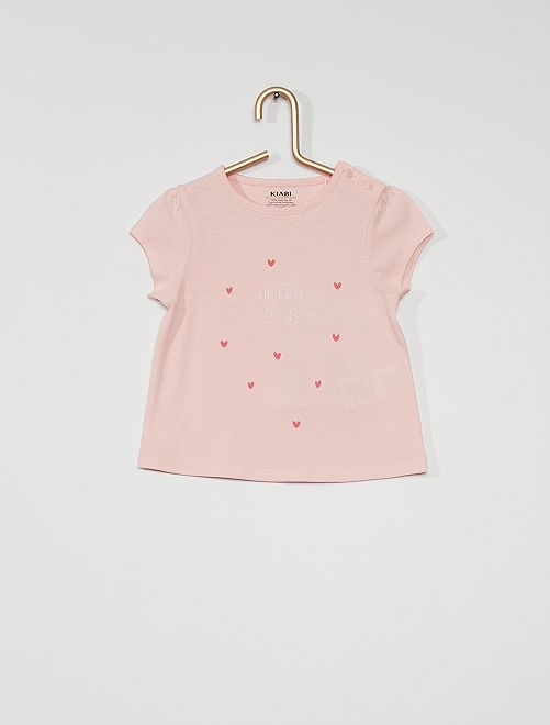 T-shirt in maglia jersey                                                                                                                             ROSA