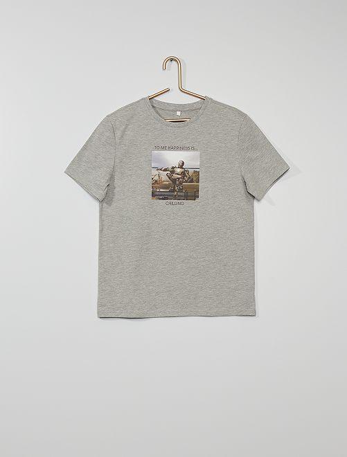 T-shirt 'Iron Man' eco-sostenibile                             GRIGIO