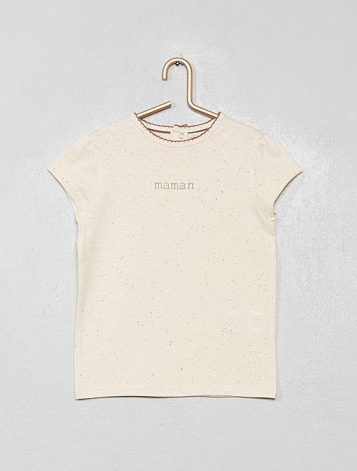 T-shirt 'mamma'                             BIANCO