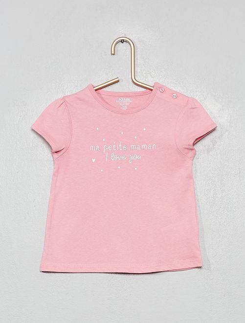 T-shirt 'mammina'                             ROSA