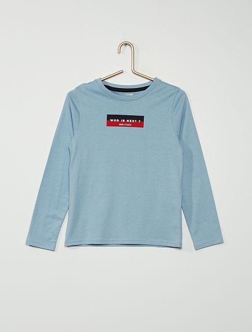 T-shirt maniche lunghe                                         BLU