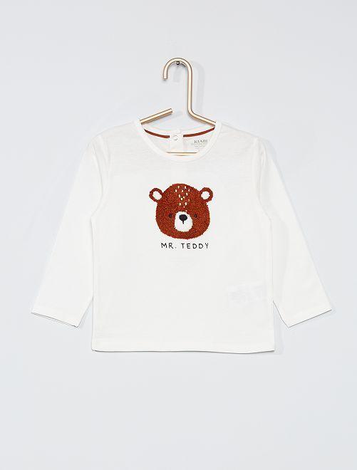 T-shirt maniche lunghe eco-sostenibile                                                     BIANCO
