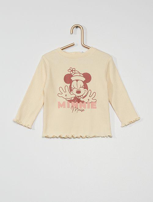 T-shirt maniche lunghe 'Minnie' di 'Disney'                             BIANCO