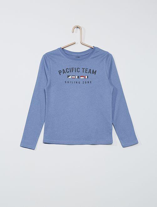 T-shirt maniche stampa marinara                                         BLU