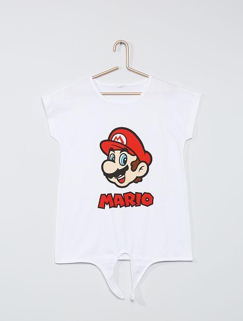 T-shirt 'Mario'                             bianco