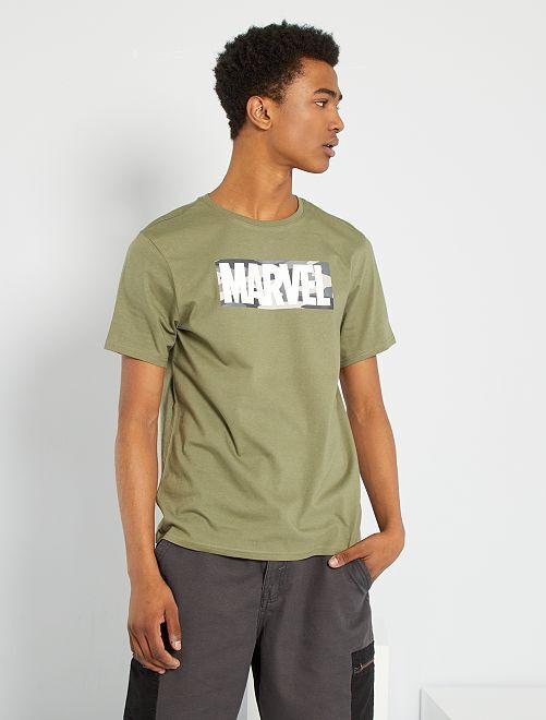 T-shirt 'Marvel' eco-sostenibile                                         KAKI