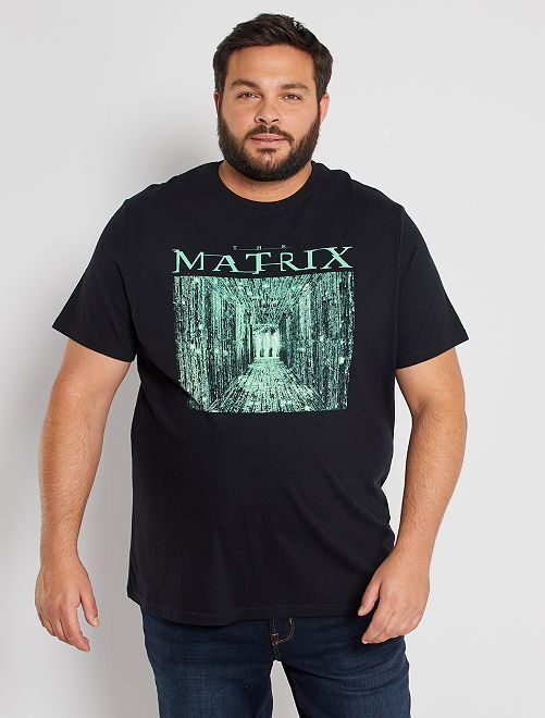 T-shirt 'Matrix'                             nero