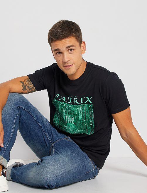 T-shirt 'Matrix'                             nero