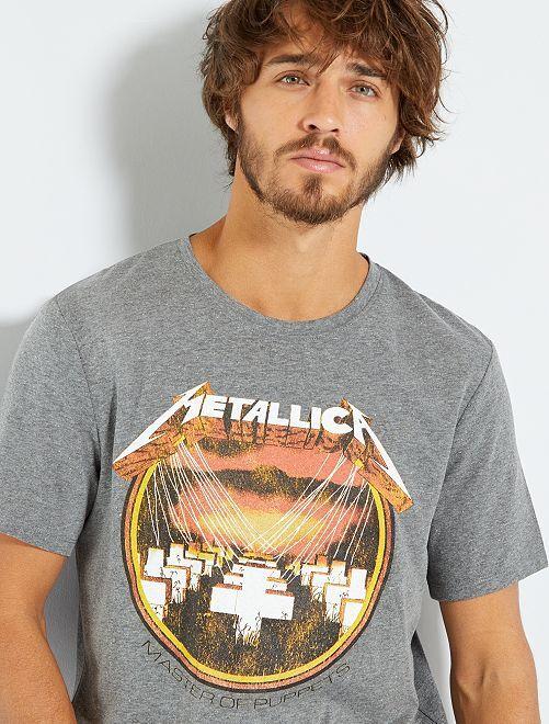 T-shirt 'Metallica'                             GRIGIO