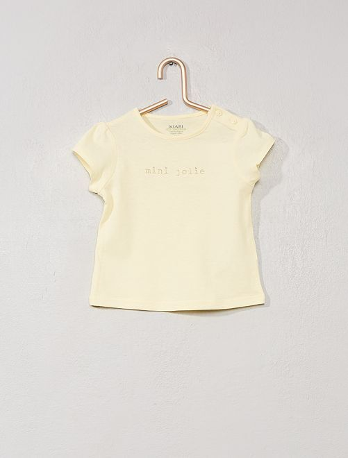 T-shirt 'I love you mum'                     GIALLO