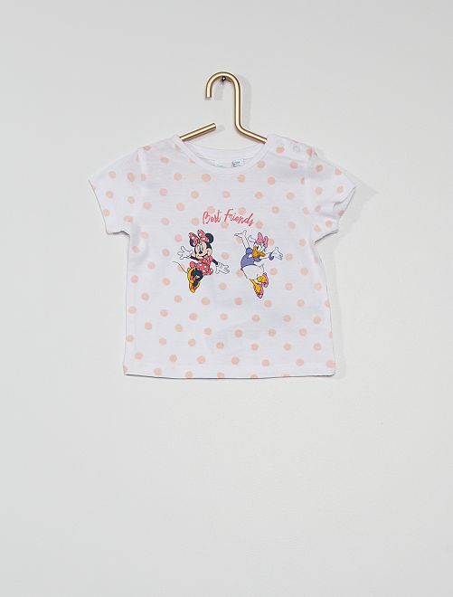 T-shirt 'Minnie e Paperina'                             BIANCO