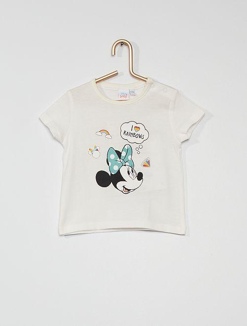 T-shirt 'Minnie' in cotone                             ecru