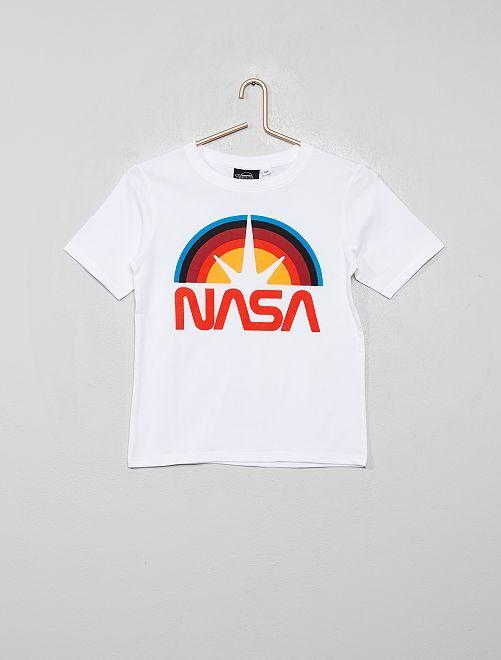 T-shirt 'Nasa'                             bianco