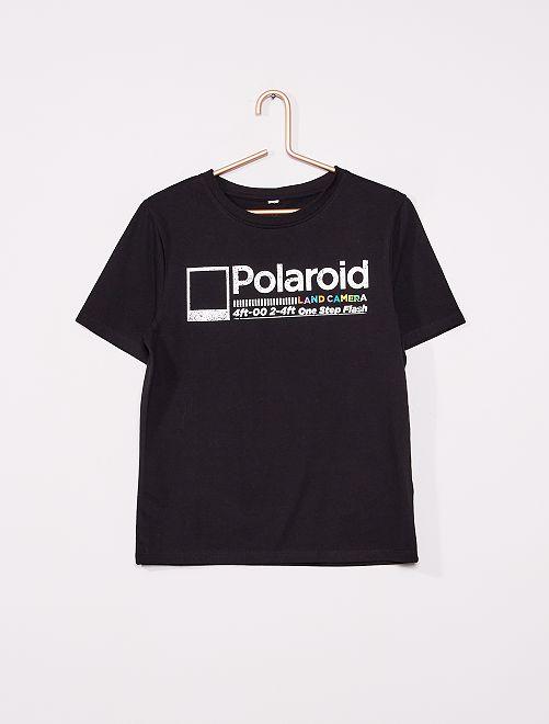 T-shirt 'Polaroid'                             grigio