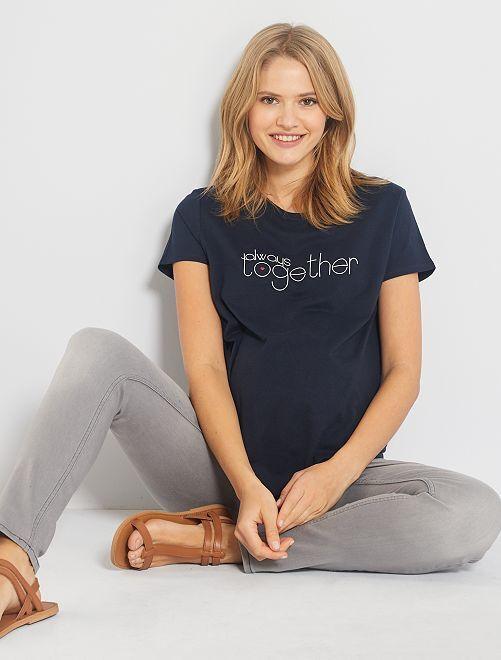 T-shirt pré-maman 'eco-concept'                                 BLU