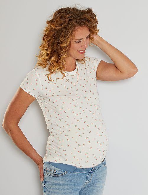 T-shirt premaman eco-sostenibile                                                                                                                                                                 BIANCO