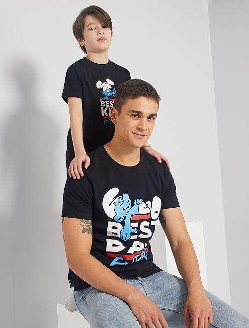 T-shirt 'Puffi'                             nero