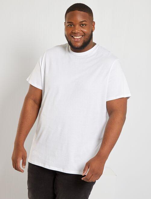 T-shirt puro cotone                                                                                                                                                                             bianco