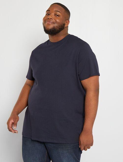 T-shirt puro cotone                                                                                                                             BLU