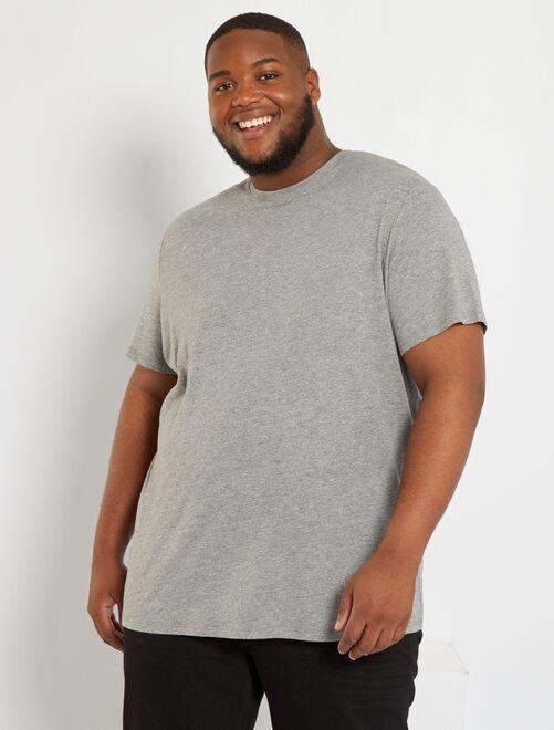 T-shirt puro cotone                                                                                                         GRIGIO