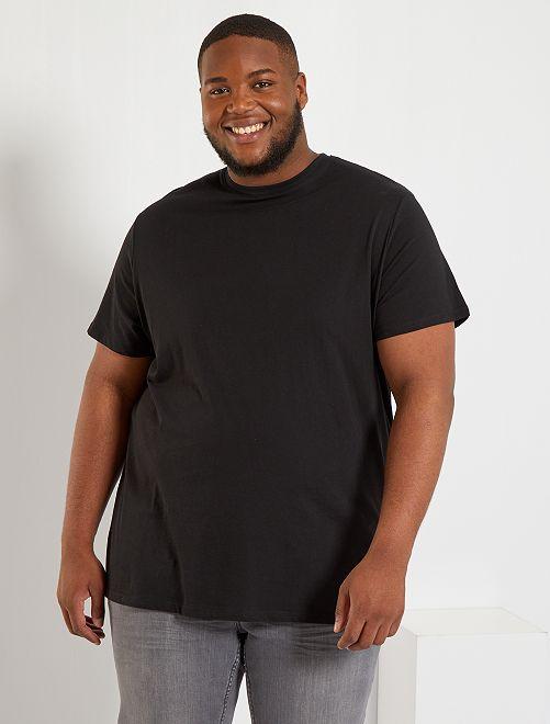 T-shirt puro cotone                                                                                                                                                                             nero