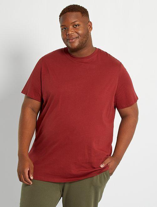 T-shirt puro cotone                                                                                                                             ROSSO