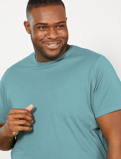 T-shirt puro cotone                                                                                                                             verde grigio