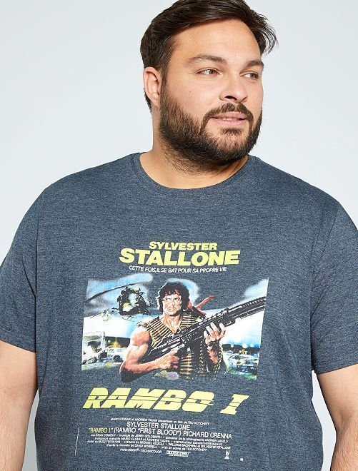 T-shirt 'Rambo'                             GRIGIO