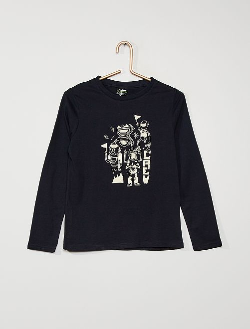 T-shirt 'robot'                                                                                                     BLU