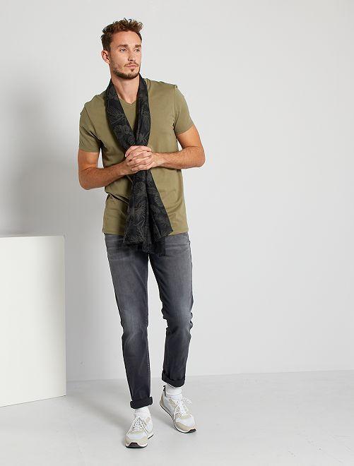 T-shirt scollo a V +190 cm                                                                                                                 verde licheno