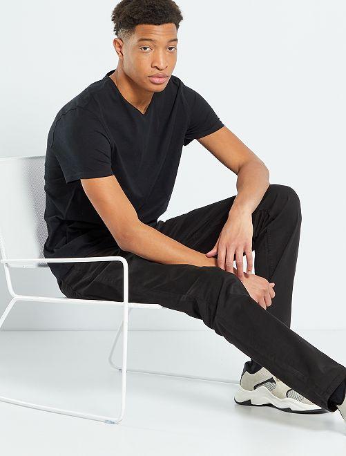 T-shirt scollo tondo +190 cm                                                                 nero