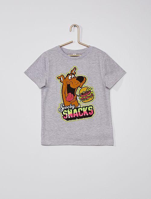 T-shirt 'Scooby-Doo' con paillettes                             GRIGIO