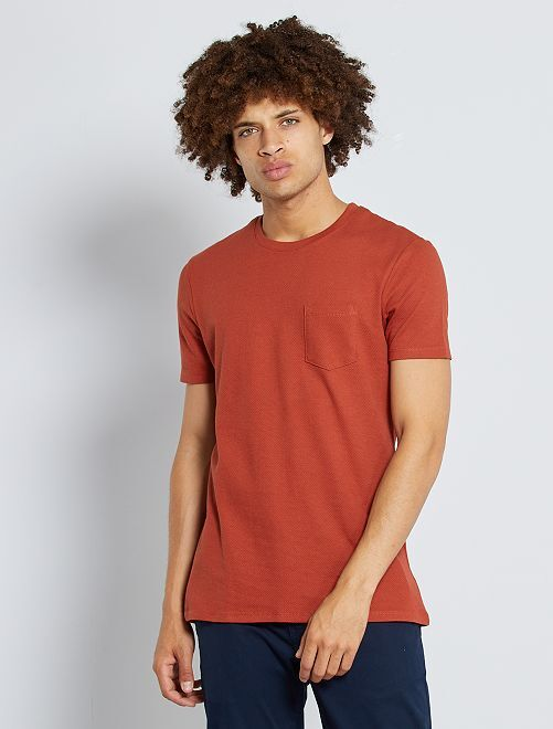 T-shirt slim 'eco-sostenibile'                                                     arancio scuro