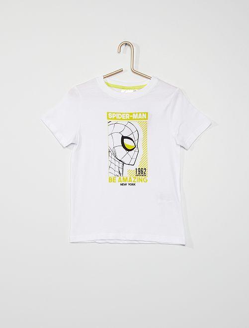 T-shirt 'Spider-Man'                             BIANCO