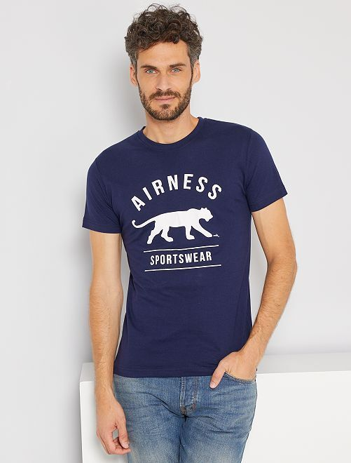 T-shirt sportiva 'Airness'                             blu marine