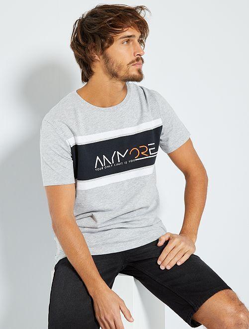 T-shirt sportiva 'eco-friendly'                     GRIGIO