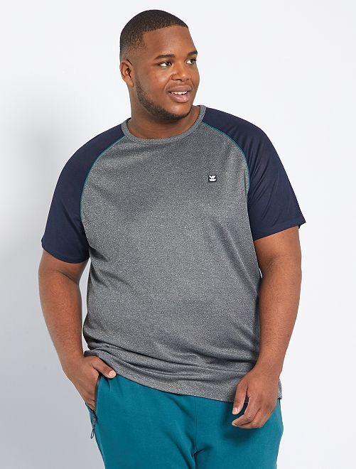 T-shirt sportiva in maglia morbida                                         grigio scuro