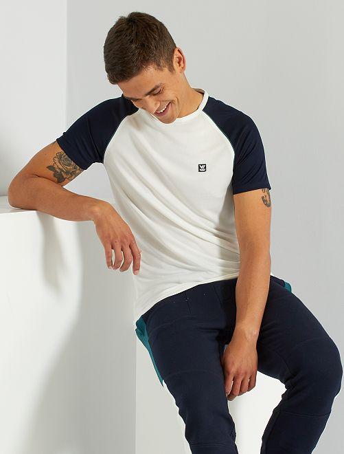 T-shirt sportiva in mesh                     bianco neve