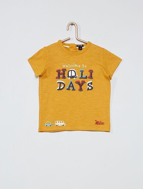 T-shirt stampa 'auto'                             GIALLO