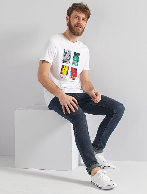 T-shirt stampa 'Marvel'                             BIANCO